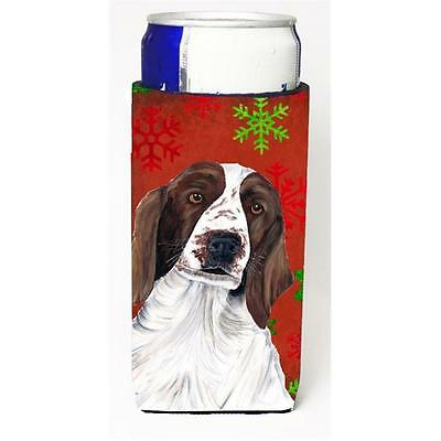 Welsh Springer Spaniel Red Green Snowflakes Holiday Christmas Michelob Ultra ...