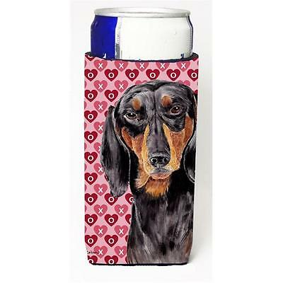 Dachshund Black Tan Hearts Love Valentines Day Michelob Ultra bottle sleeves ...