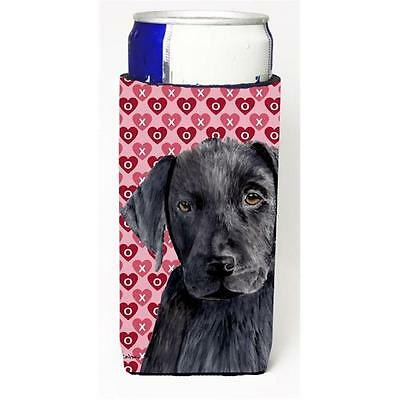Labrador Black Hearts Love Valentines Day Michelob Ultra bottle sleeves for s...