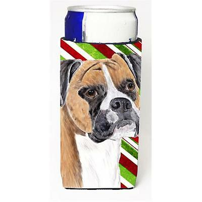 Boxer Candy Cane Holiday Christmas Michelob Ultra bottle sleeves For Slim Can...