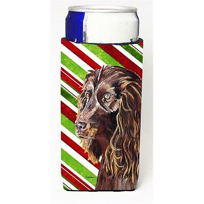 Boykin Spaniel Candy Cane Christmas Michelob Ultra bottle sleeves For Slim Ca...