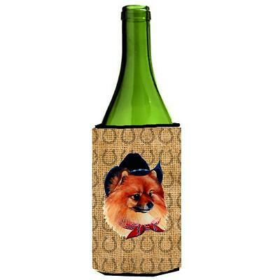 Pomeranian Dog Country Lucky Horseshoe Wine bottle sleeve Hugger 24 oz.