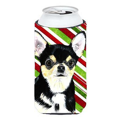 Chihuahua Candy Cane Holiday Christmas Tall Boy bottle sleeve Hugger 22 To 24...