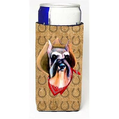 Schnauzer Dog Country Lucky Horseshoe Michelob Ultra bottle sleeves For Slim ...