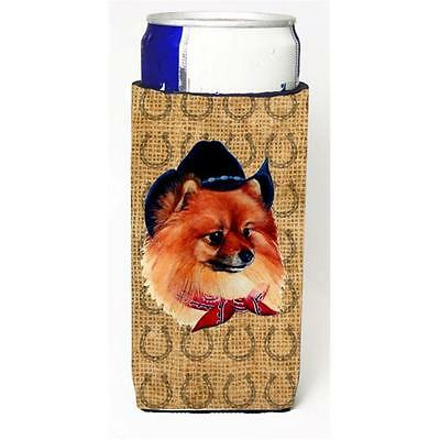 Pomeranian Dog Country Lucky Horseshoe Michelob Ultra bottle sleeves For Slim...