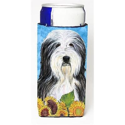 Bearded Collie In Summer Flowers Michelob Ultra bottle sleeves For Slim Cans ...