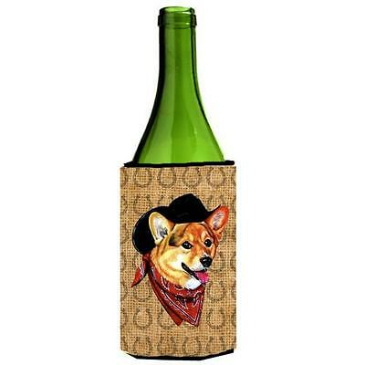 Corgi Dog Country Lucky Horseshoe Wine bottle sleeve Hugger 24 oz.