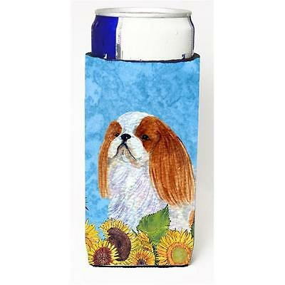 English Toy Spaniel In Summer Flowers Michelob Ultra bottle sleeves For Slim ...