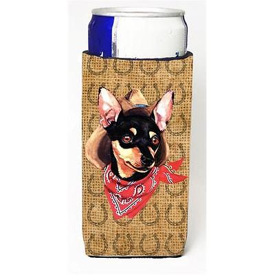 Min Pin Dog Country Lucky Horseshoe Michelob Ultra bottle sleeves For Slim Ca...