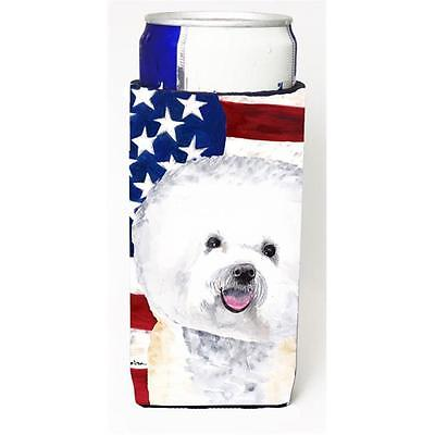 Usa American Flag With Bichon Frise Michelob Ultra bottle sleeves For Slim Ca...