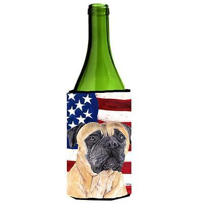 Usa American Flag With Mastiff Wine bottle sleeve Hugger 24 oz.