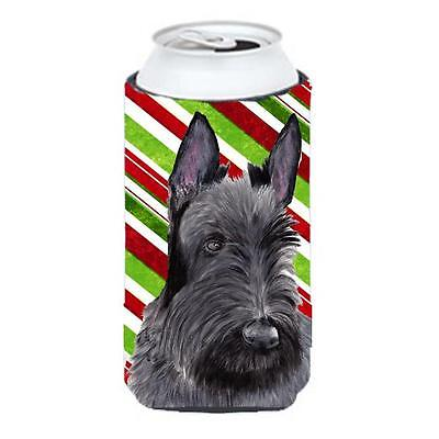 Scottish Terrier Candy Cane Holiday Christmas Tall Boy bottle sleeve Hugger 2...