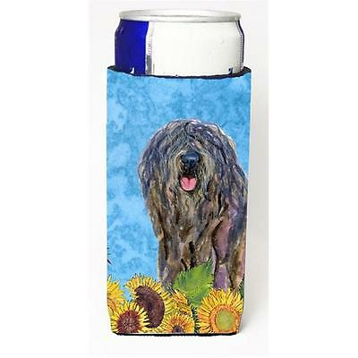 Bergamasco Sheepdog In Summer Flowers Michelob Ultra bottle sleeves For Slim ...