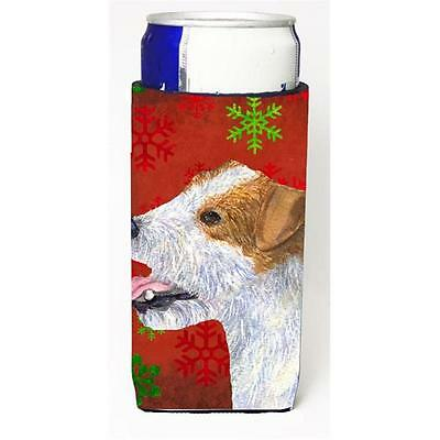 Jack Russell Terrier Red Green Snowflakes Holiday Christmas Michelob Ultra bo...