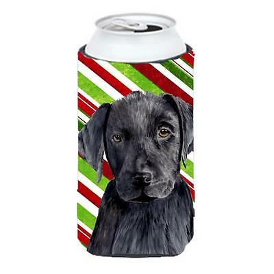 Labrador Candy Cane Holiday Christmas Tall Boy bottle sleeve Hugger 22 To 24 oz.