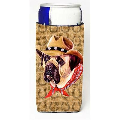 Mastiff Dog Country Lucky Horseshoe Michelob Ultra bottle sleeves For Slim Ca...