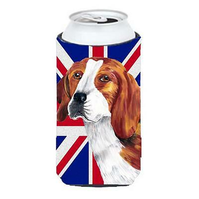 Beagle With English Union Jack British Flag Tall Boy bottle sleeve Hugger 22 ...