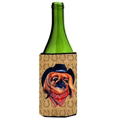 Pekingese Dog Country Lucky Horseshoe Wine bottle sleeve Hugger 24 oz.