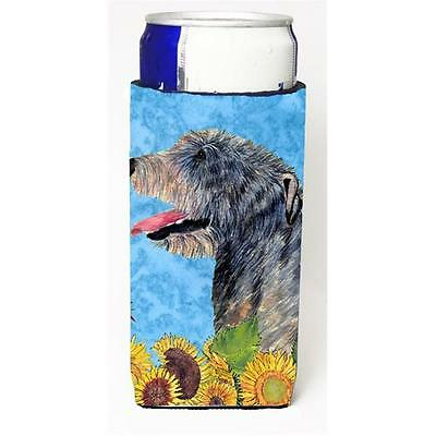 Irish Wolfhound In Summer Flowers Michelob Ultra bottle sleeves For Slim Cans...