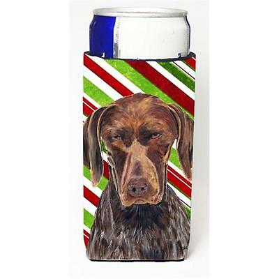 German Shorthaired Pointer Candy Cane Holiday Christmas Michelob Ultra bottle...