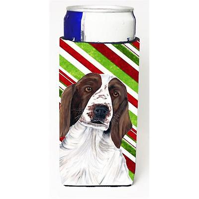 Welsh Springer Spaniel Candy Cane Holiday Christmas Michelob Ultra bottle sle...