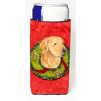 Golden Retriever Christmas Wreath Michelob Ultra bottle sleeves For Slim Cans...