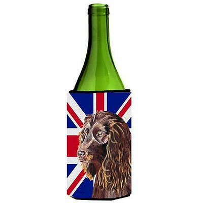 Boykin Spaniel With Engish Union Jack British Flag Wine bottle sleeve Hugger ...