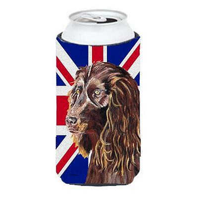 Boykin Spaniel With Engish Union Jack British Flag Tall Boy bottle sleeve Hug...