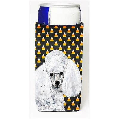 White Toy Poodle Candy Corn Halloween Michelob Ultra bottle sleeves Slim Cans...