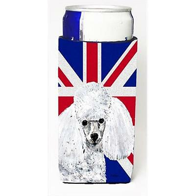 White Toy Poodle With English Union Jack British Flag Michelob Ultra bottle s...