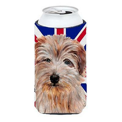 Norfolk Terrier With English Union Jack British Flag Tall Boy bottle sleeve H...