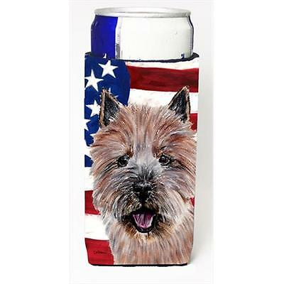 Norwich Terrier With American Flag Usa Michelob Ultra bottle sleeves Slim Can...