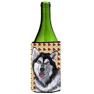 Alaskan Malamute Fall Leaves Wine bottle sleeve Hugger 24 Oz. • AUD 48.26