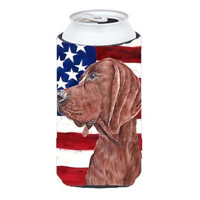 Redbone Coonhound With American Flag Usa Tall Boy bottle sleeve Hugger 22 To ...