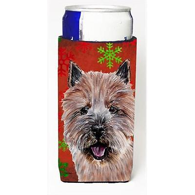 Norwich Terrier Red Snowflakes Holiday Michelob Ultra bottle sleeves Slim Can...