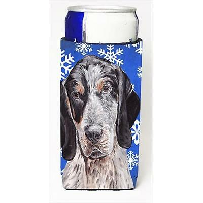 Blue Tick Coonhound Winter Snowflakes Michelob Ultra bottle sleeves Slim Cans...