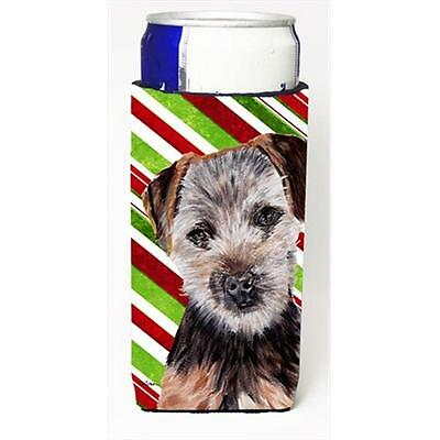 Norfolk Terrier Puppy Candy Cane Christmas Michelob Ultra bottle sleeves Slim...