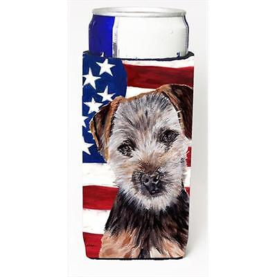 Norfolk Terrier Puppy With American Flag Usa Michelob Ultra bottle sleeves Sl...