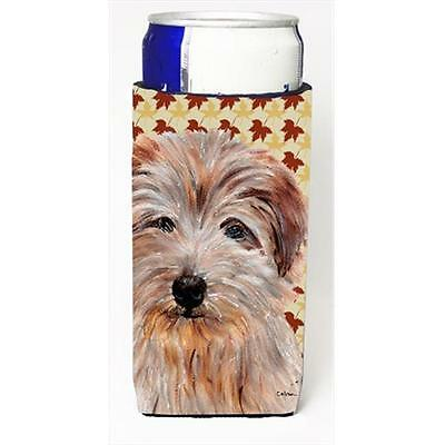 Norfolk Terrier Fall Leaves Michelob Ultra bottle sleeves Slim Cans 12 Oz.