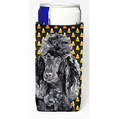 Black Standard Poodle Candy Corn Halloween Michelob Ultra bottle sleeves Slim...