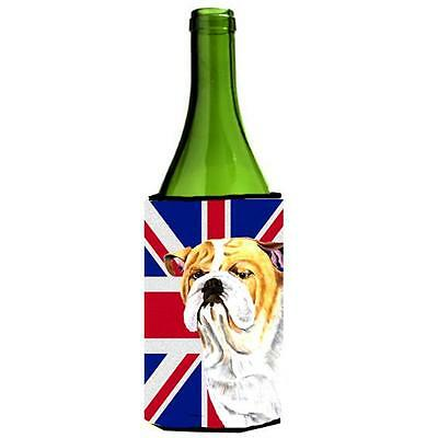 Bulldog English With English Union Jack British Flag Wine bottle sleeve Hugge...