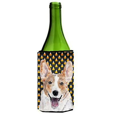 Cardigan Corgi Candy Corn Halloween Wine bottle sleeve Hugger 24 Oz.
