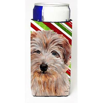 Norfolk Terrier Candy Cane Christmas Michelob Ultra bottle sleeves Slim Cans ...