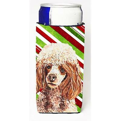 Red Miniature Poodle Candy Cane Christmas Michelob Ultra bottle sleeves Slim ...