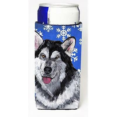 Alaskan Malamute Winter Snowflakes Holiday Michelob Ultra bottle sleeves For ...