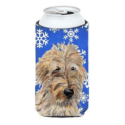 Golden Doodle 2 Winter Snowflakes Tall Boy bottle sleeve Hugger 22 To 24 Oz.