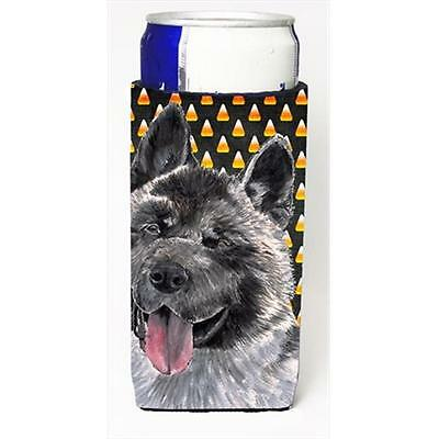 Akita Candy Corn Halloween Michelob Ultra bottle sleeves For Slim Cans 12 Oz.