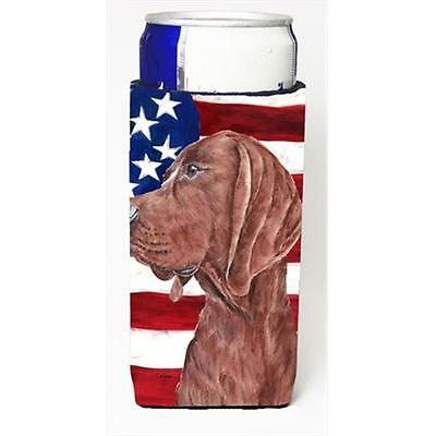 Redbone Coonhound With American Flag Usa Michelob Ultra bottle sleeves Slim C...