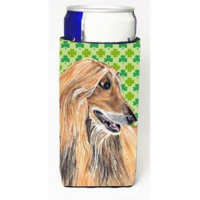Afghan Hound St. Patricks Day Shamrock Michelob Ultra bottle sleeves For Slim...