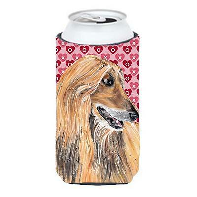 Afghan Hound Hearts Love And Valentines Day Tall Boy bottle sleeve Hugger 22 ...